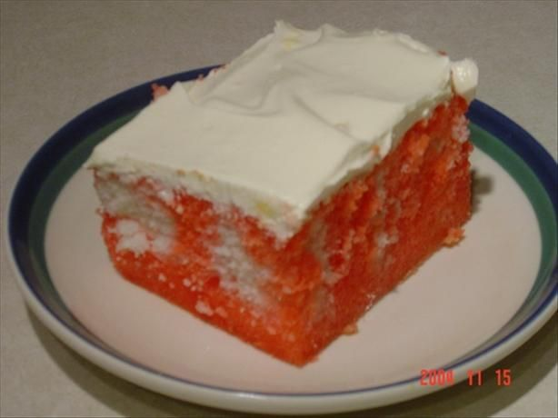 Strawberry Pop Cake from Food.com:   My kids have started requesting this cake for their birthdays! It is very easy to make. Poking holes into a cake with a fork is fun for the whole family. :) The icing bowl gets licked clean whenever I make this.