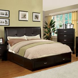 furniture of america enrico espresso california king platform bed with - Cal King Platform Bed Frame