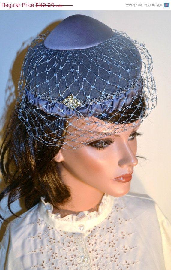 1950s Vintage Hat - 50s Cocktail Hat