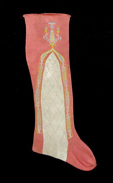 Silk British stockings, Met Museum
