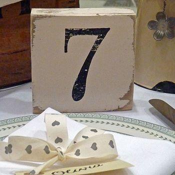 Vintage Style Table Number Blocks