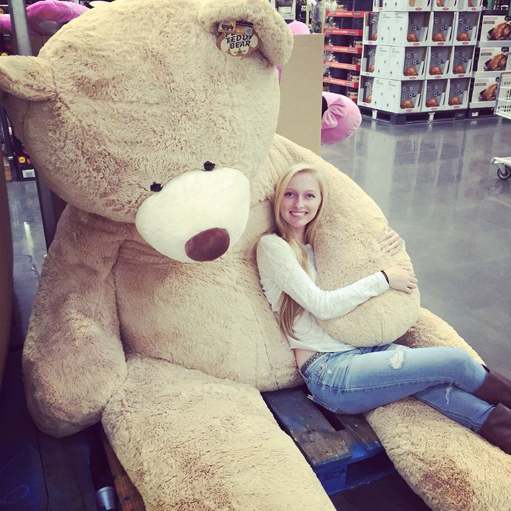 "93"" giant stuffed bear at Costco."