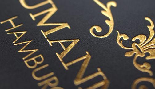 Heißfolienprägung in Gold - Hot foil stamping in gold www.dynamik-druck.de