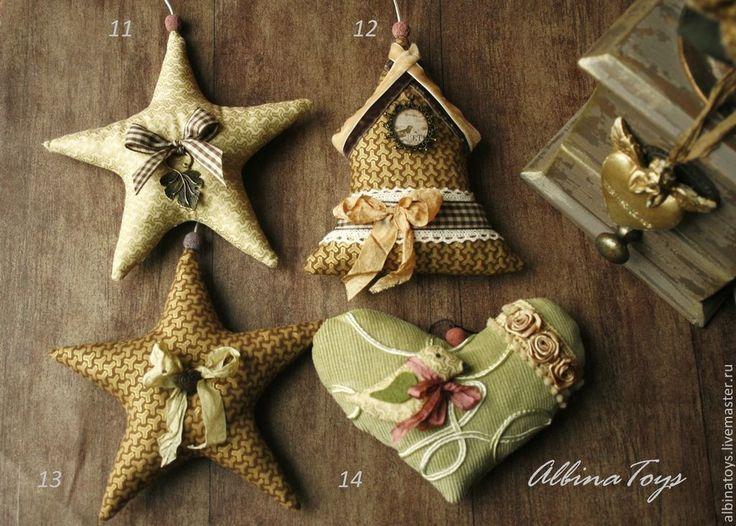 Купить Новогодний интерьер.Винтажные новогодние подвески..Елочные игрушки - елочное украшение, елочные игрушки