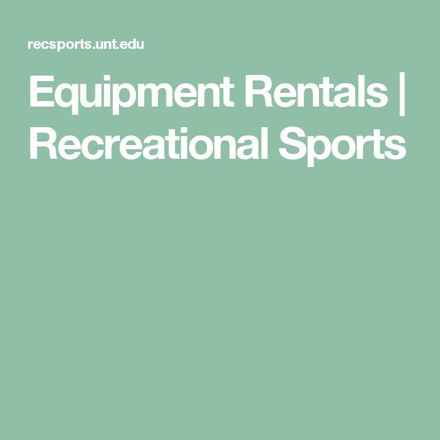 Equipment Rentals   Recreational Sports