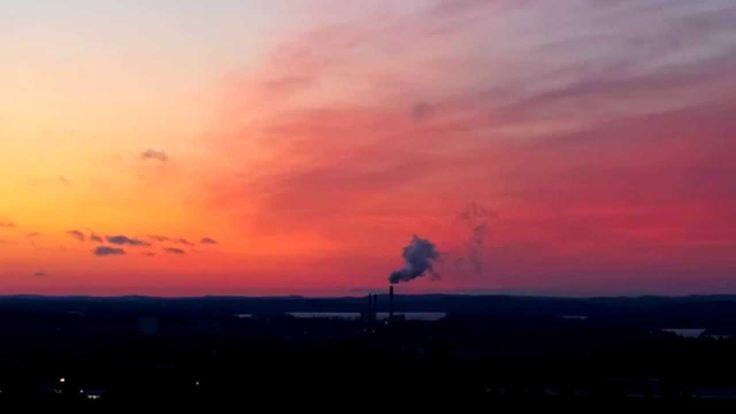 Video of a beautiful sunrise in Kuopio, Finland.