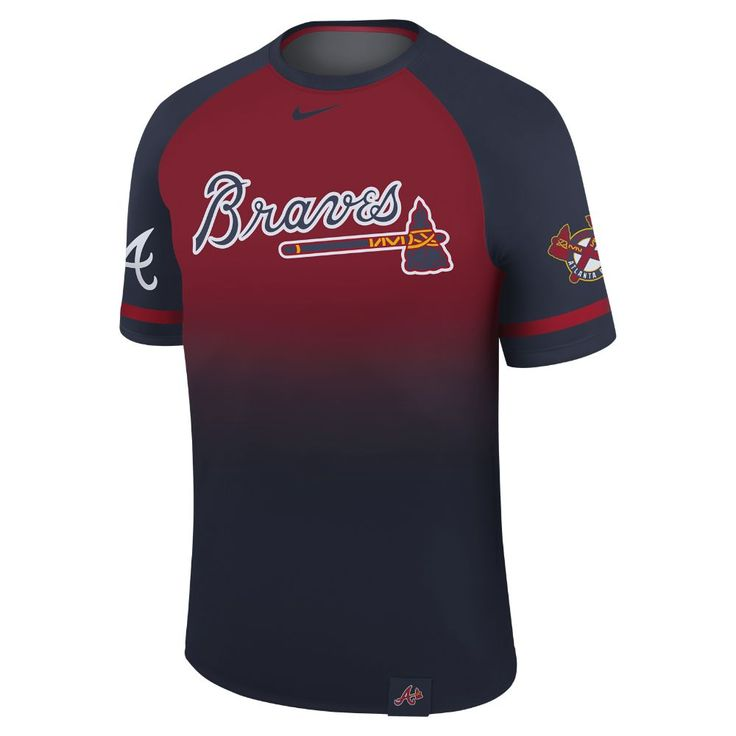 Nike Legend Raglan (MLB Braves) Men's T-Shirt Size