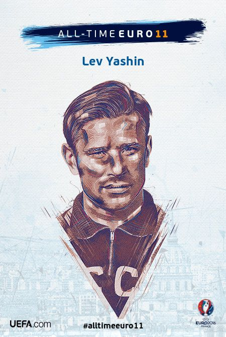 Lev Yashin - All-time EURO 11 Nominee Illustrations by ptitecao.com