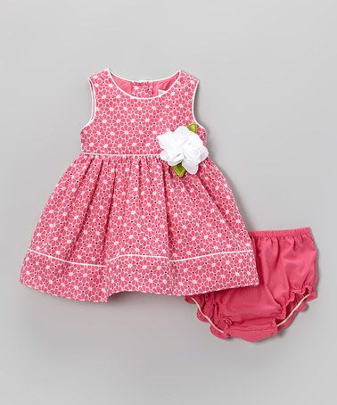 Another great find on #zulily! Pink Eyelet Dress & Diaper Cover - Infant by Sweet Heart Rose #zulilyfinds