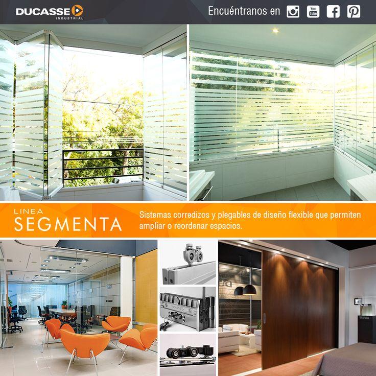 Linea Segmenta, sistemas corredizos y plegables permiten gran flexibilidad en el diseño, para dividir, cerrar, ampliar y ordenar espacios y ambientes residenciales y comerciales.
