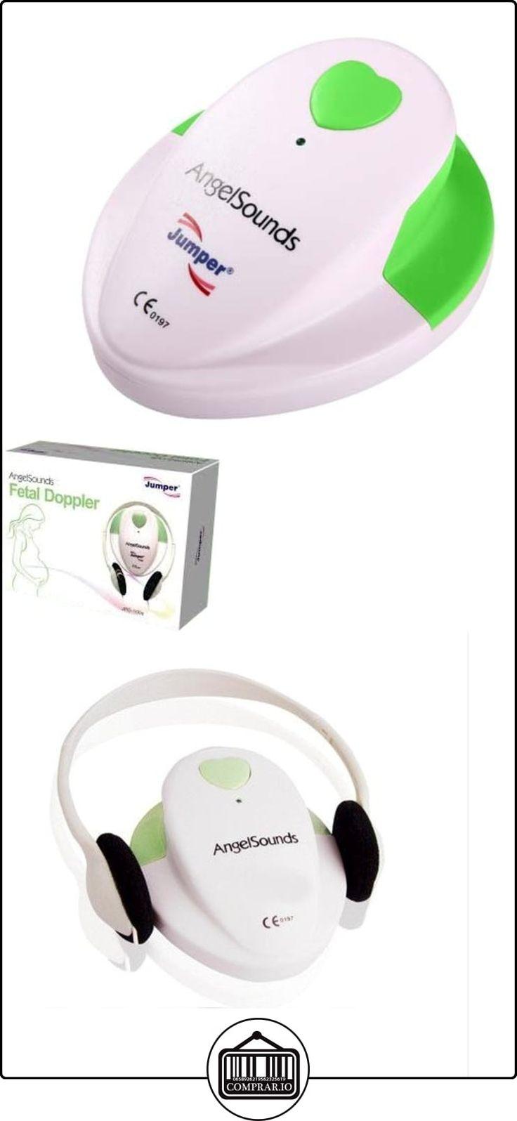 Jumper Medical - Doppler Fetal JPD-100S, dispositivo de ultrasonido manual, con sonda de 3,0 MHz para escuchar los latidos del corazón del bebé, CE, FDA, ISO, RoHS, con auriculares, 2 baterías AA, cable de grabación de audio, de color bianco-verde  ✿ Vigilabebés - Seguridad ✿ ▬► Ver oferta: http://comprar.io/goto/B01MS7UK2P
