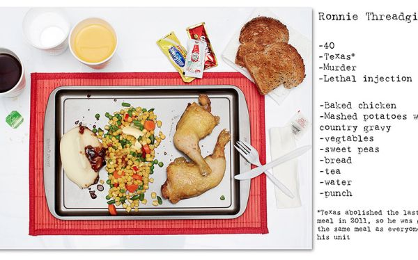Henry Hargreaves' death row meals project. I've seen this before and I find it fascinating and chilling.