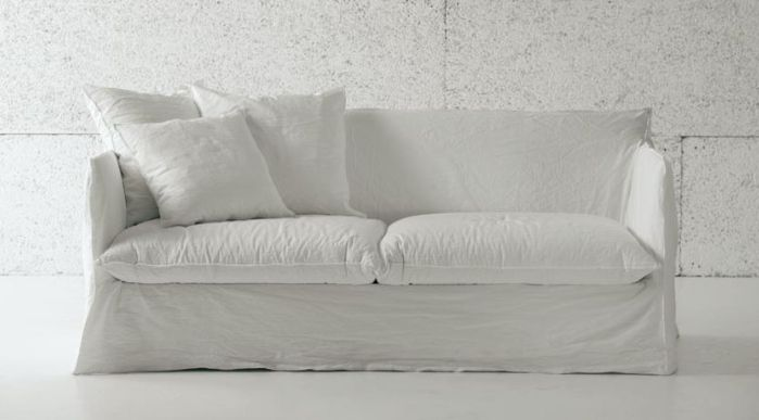The only certainties in life may be death and taxes, but add to that the need for a perfect white sofa. Here are ten that fit the bill. Above: Ghost 4-seat