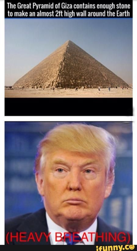 heavy breathing, trump, wall, Egypt