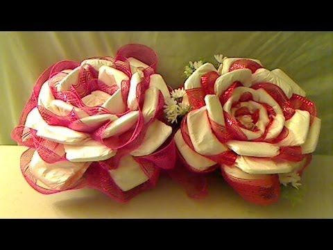 ▶ How To Make A Diaper Rose - YouTube
