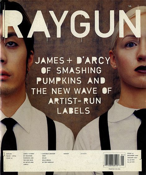 Raygun Magazine, 90s. The magazine broke convention and used a different font each issue for their logo