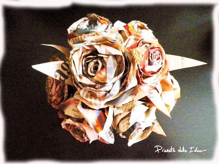 Carta riciclo: <br>Un bouquet di rose di carta | Pianeta delle Idee