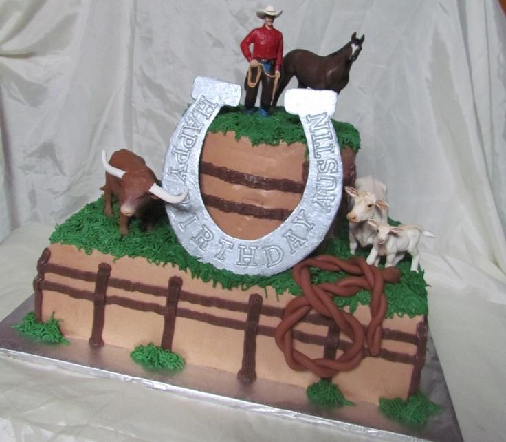 Western Cake Toy Toppers Fondant Rope Amp Horseshoe My