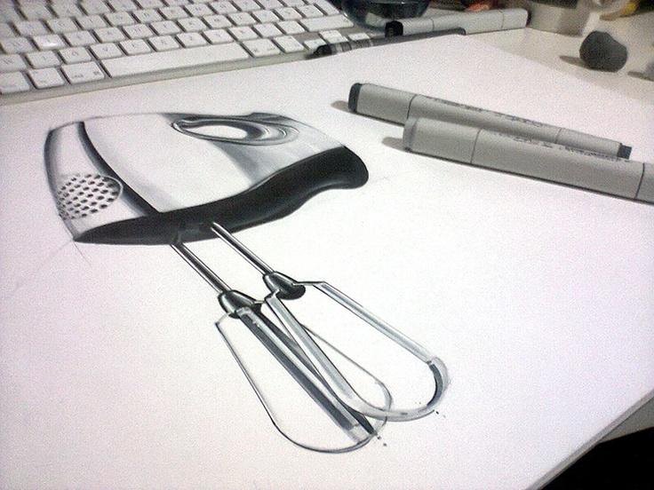 Orhan Okay design sketch copic industrial draw