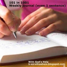 With God's Help: Weekly items for 101 in 1001: Journal