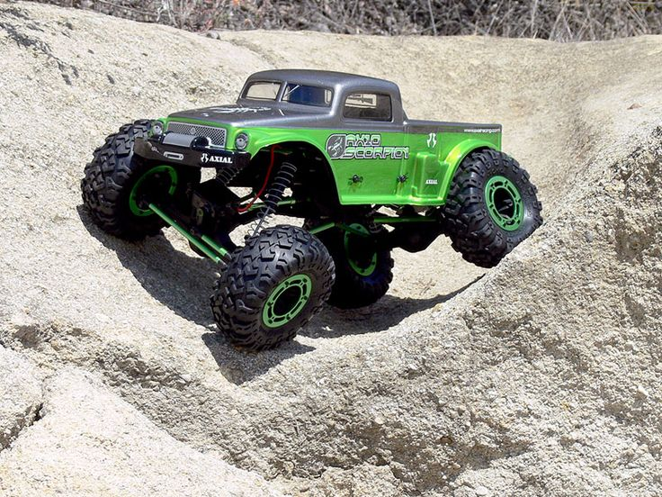 Axial AX10 Scorpion Before the short course craze (see below), there was rock crawling which is still going strong and evolving.