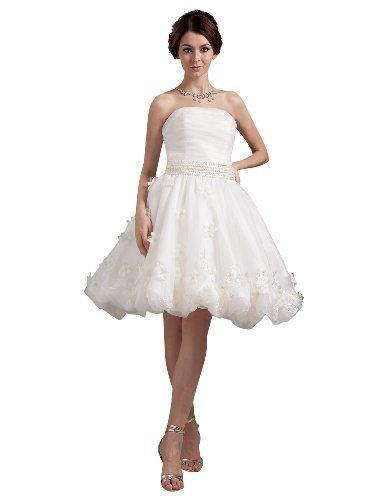 Reception choice #3  JOLLY BRIDAL Short Tulle Ruffled Wedding Dress With Flowers Size 18W JOLLY BRIDAL http://www.amazon.com/dp/B00JB4T7CS/ref=cm_sw_r_pi_dp_V5piub1JE6W1B