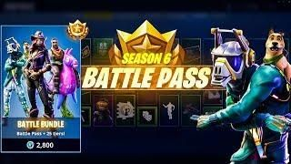 Showcasing New Season 6 Battle Pass Fortnite Season 6 Battle