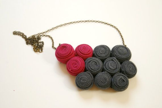 figure fabric necklace by ganbayo on Etsy
