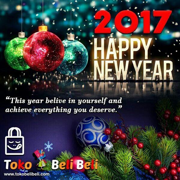 TokoBeliBeli mengucapkan Happy New Year 2017🎉🎊  Semoga ditahun 2017 all customer setia @tokobelibeli tambah sukses rejekinya dan kami semakin baik melayani permintaan customer semuanya, yg pasti ditunggu selalu orderannya setelah liburan tahun baru yaa sis/agan semua 😍😃😎🙏  #happynewyear2017 #happyholiday #selalubahagia #janganlupaorderdi2017 #banyakkejutandi2017