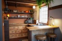 """House in Portland, United States. Seen on the TV show """"Tiny House Nation"""", CNN, Food & Wine Magainze, and the NY Post, the 350 sq ft Rustic Modern Tiny House was designed and built by us, your friendly AirBNB hosts. Guests call it """"completely charming"""" and """"the perfect urban getaw..."""