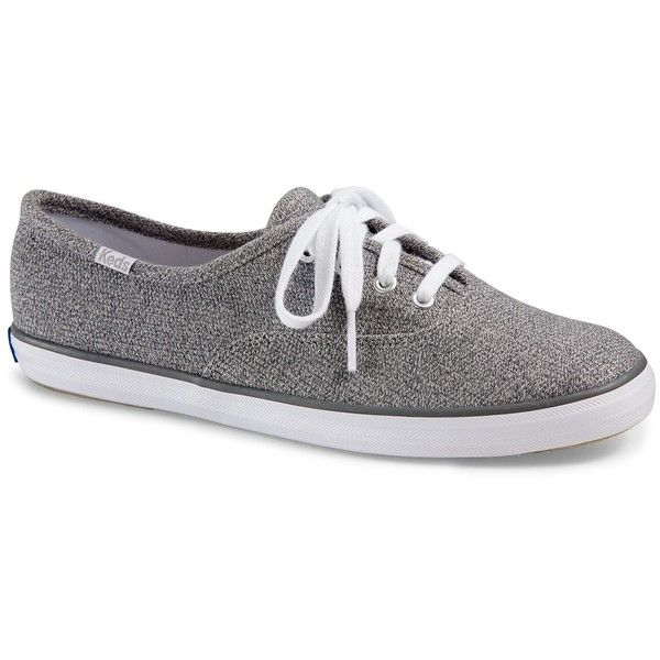 Keds Champion Sweatshirt Sneaker ($20) ❤ liked on Polyvore featuring shoes, sneakers, lt gray, keds sneakers, lace up sneakers, gray sneakers, grey sneakers and keds footwear