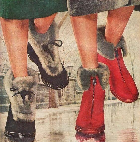 Модная зимняя обувь 1950
