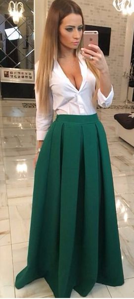 If you wear this dress,then on each occasion,you will look like a charming,lovely and cute young-girl. High waist design can make you looked slimmer,V- neck can make you more sexy.In a word,put it on,