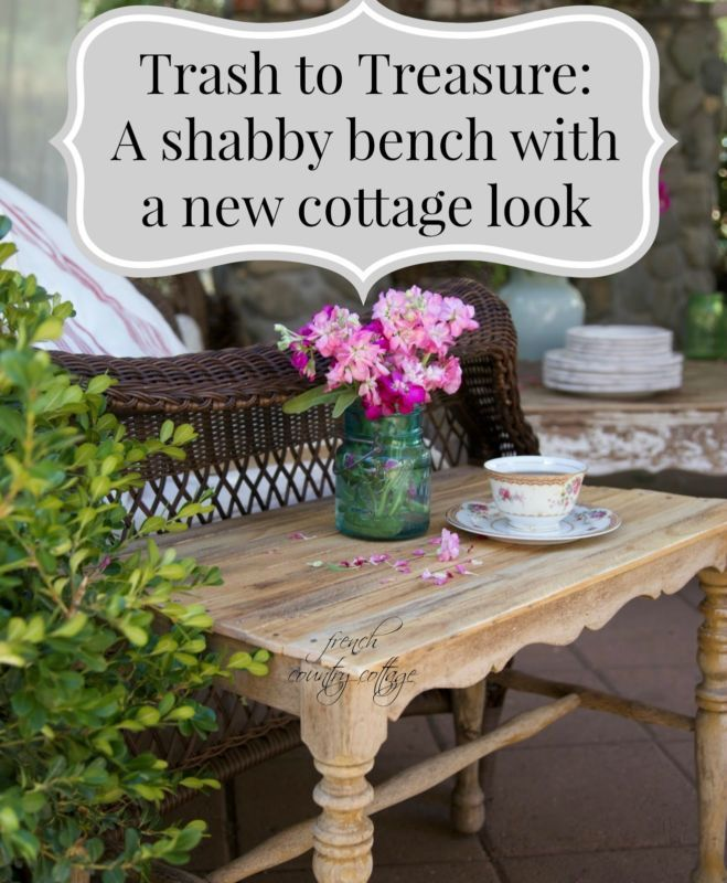 Trash To Treasure A Shabby Bench With A New Look