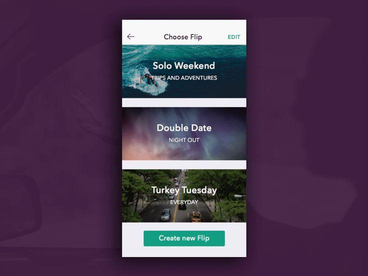 30 animations d'interfaces mobile & web originales et innovantes en gif | BlogDuWebdesign