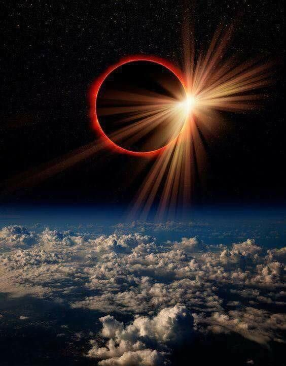 NASA'S photo of the 2017 eclipse from space.  Gorgeous!