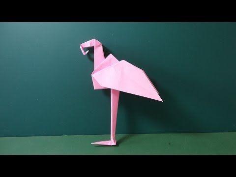 """折り紙「フラミンゴの折り方」Origami """"Flamingo"""" - YouTube"""