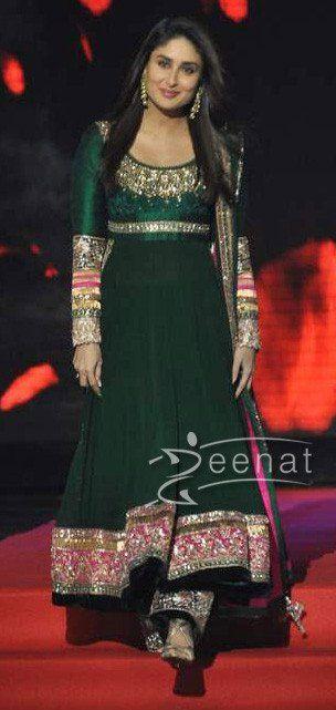Anarkali 3619 Kareena Kapoor Green Blue Burgandy Suit Shieno Sarees