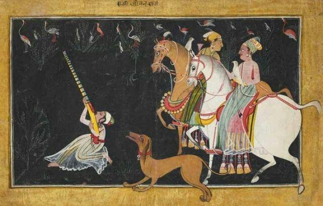 Bazbahadur & Roopmati hunting, 1700