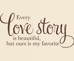 Every love story...