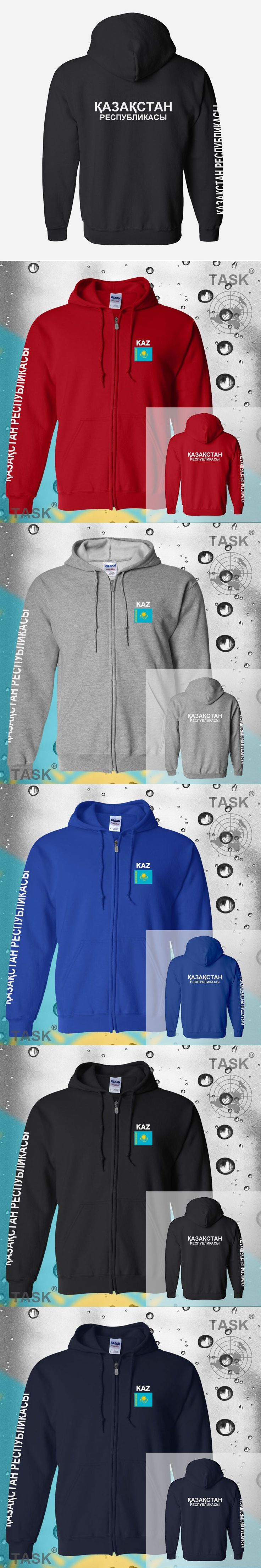 Kazakhstan KAZ	Kazakhstani mens hoodies and sweatshirt jerseys polo sweat new streetwear tracksuit nations fleece zipper flags