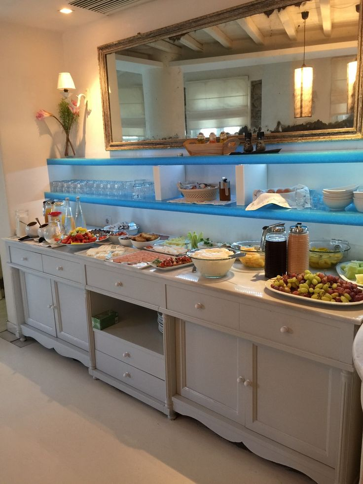 You know you're in Mykonos when this is your breakfast spread! Enjoy the best possible start to your day with our authentic Greek breakfasts. http://www.semelihotel.gr/breakfast/ #Semeli #SemeliHotel #Mykonos #Breakfast