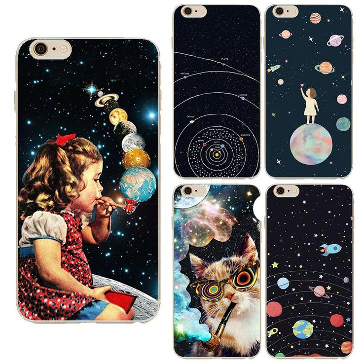 Airship Astronaut Stars Case Cover For Apple iPhone 6 6S Silicone Moon Night Case High tech cosmic picture Design Phone Case *** Learn more by visiting the image link.