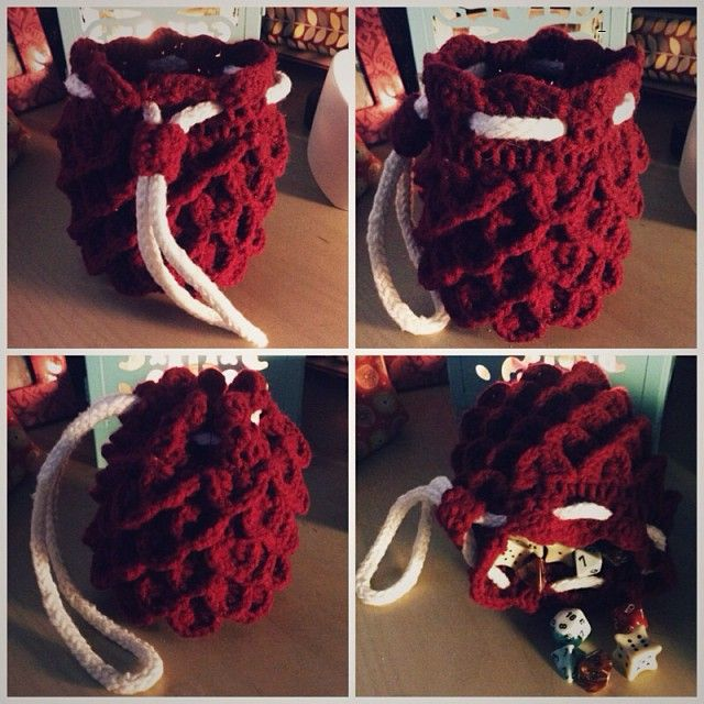 Dragon Dice Bag Crochet Pattern : 1000+ images about Yarn Shit on Pinterest Free pattern ...