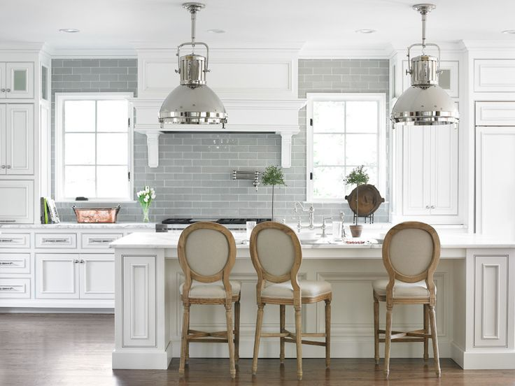 gray subway tile. stools. anything copper.