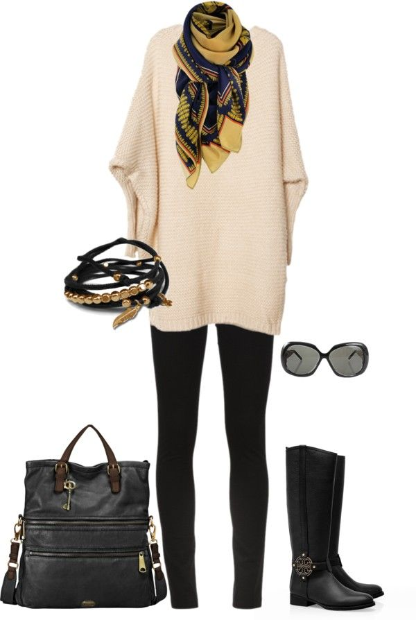 """fall comfy"" by lisa-matarasso-house on Polyvore. Cute for work"