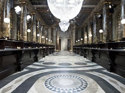 Australia House, London—The filming location of Gringott's Wizarding Bank, minus the dragons and goblins. Although the building isn't open to the public, you can still sneak a peek at the stunning marble inside.