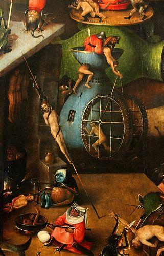 The Last Judgment, central panel, detail 7  Hieronymus Bosch (Jeroen van Aken, ca 1450-1516), The Last Judgment, triptych (1504-08), central panel, detail. Akademie für bildenden Künste, Vienna