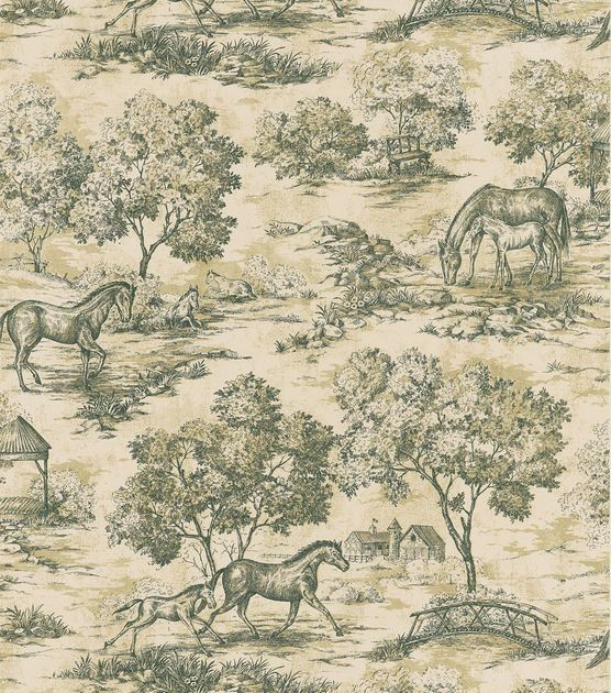 Appaloosa Black Horse Toile Wallpaper I Love Toile