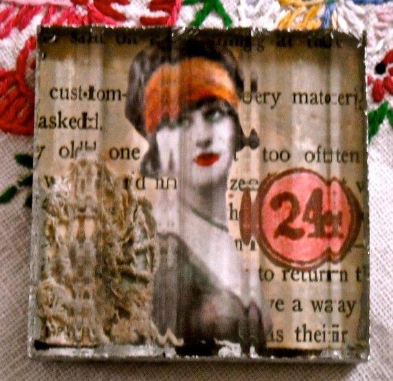 Art Glass Block Collage original  www.etsy.com/...